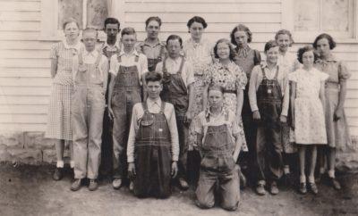 new england school students 1937 near herman no longer exists 001